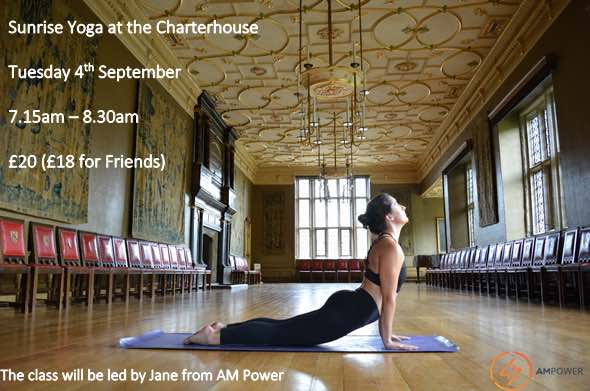 Sunrise Yoga at The Charterhouse