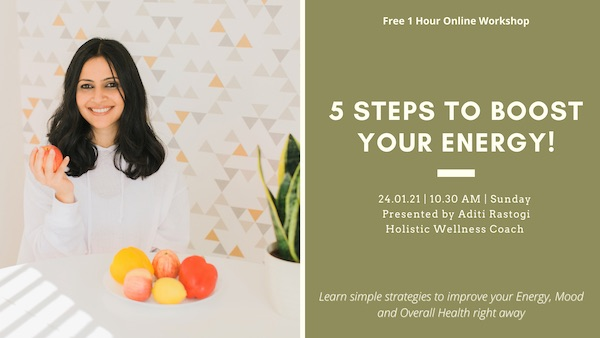 Free Wellness Workshop: 5 Steps to Boost Your Energy